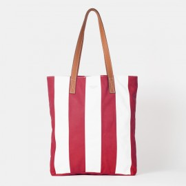 Striped Ume-red Tote Bag