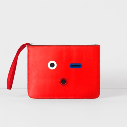 SMILEY Pouch. Red