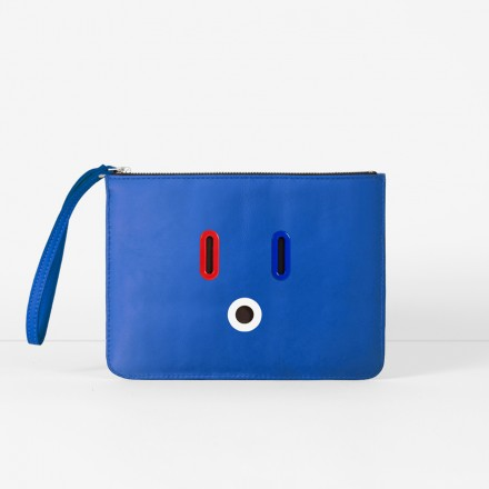 SMILEY Pouch. Blue
