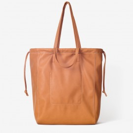 Oversize Airy Bag. Tan