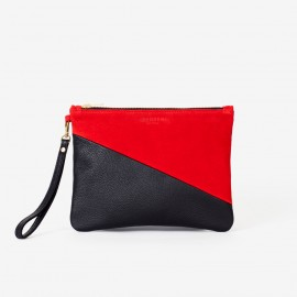 OSCAR Medium Pouch. Red & Black