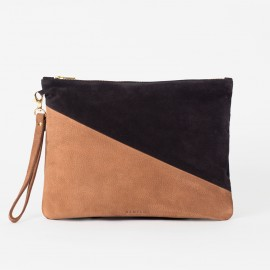 OSCAR Big Pouch. BLACK & BROWN