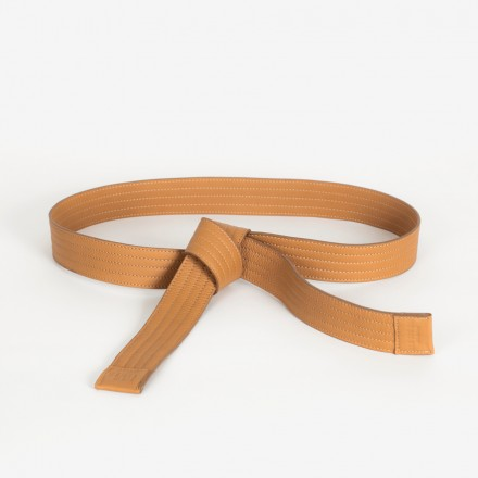 Leather Judo Belt. Tan