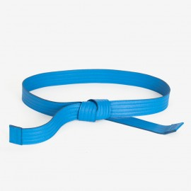 Leather Judo Belt. Cobalt Blue